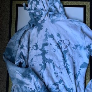 Ivory Ella Tie Dye Hooded Sweatshirt Size Small